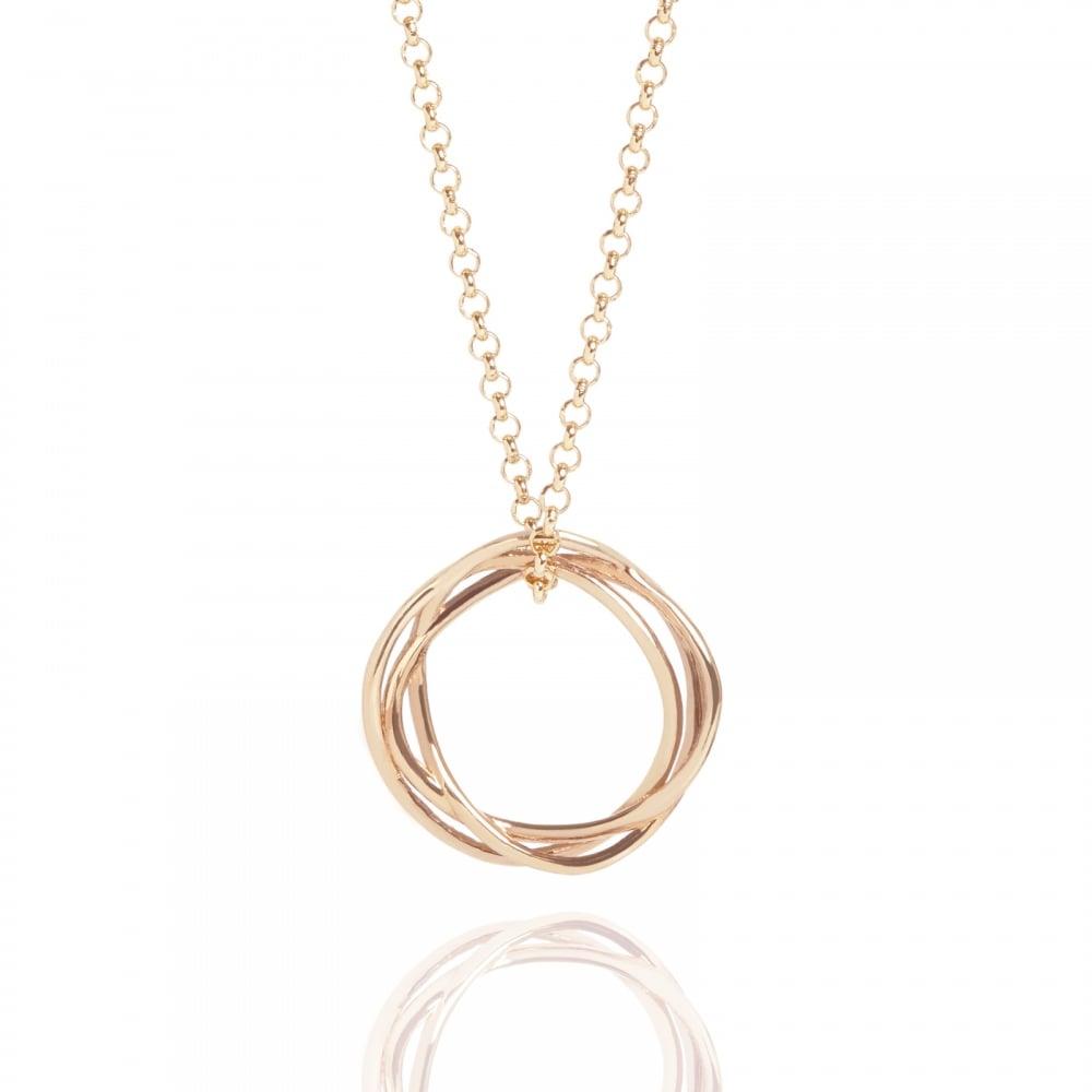 Muru Karma Circle Necklace Rose Gold Plated