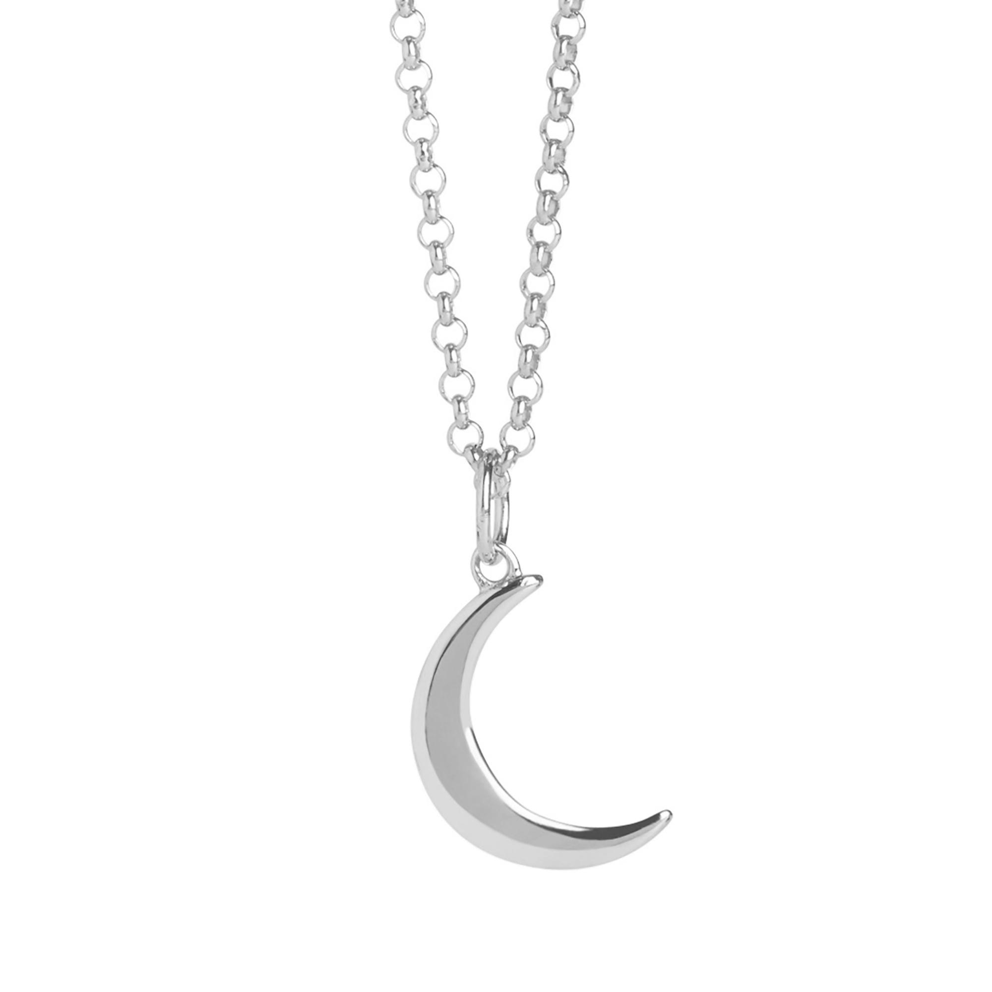 Muru Mini Crescent Moon Necklace Silver