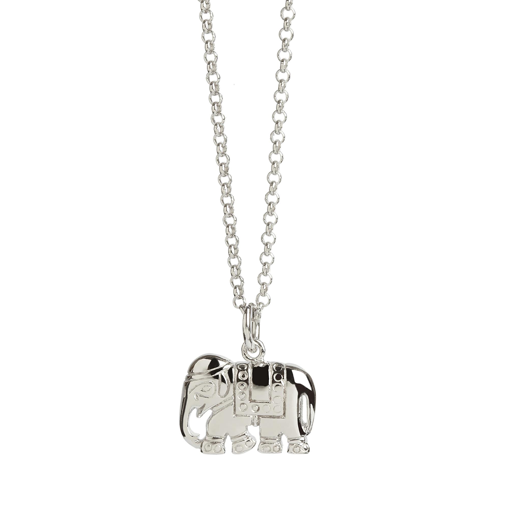 Muru Elephant Charm Necklace Silver