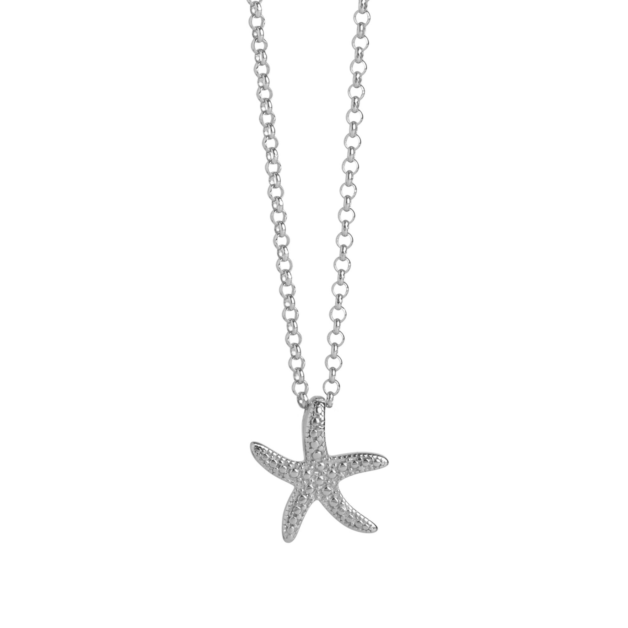 Muru Starfish Charm Necklace Silver