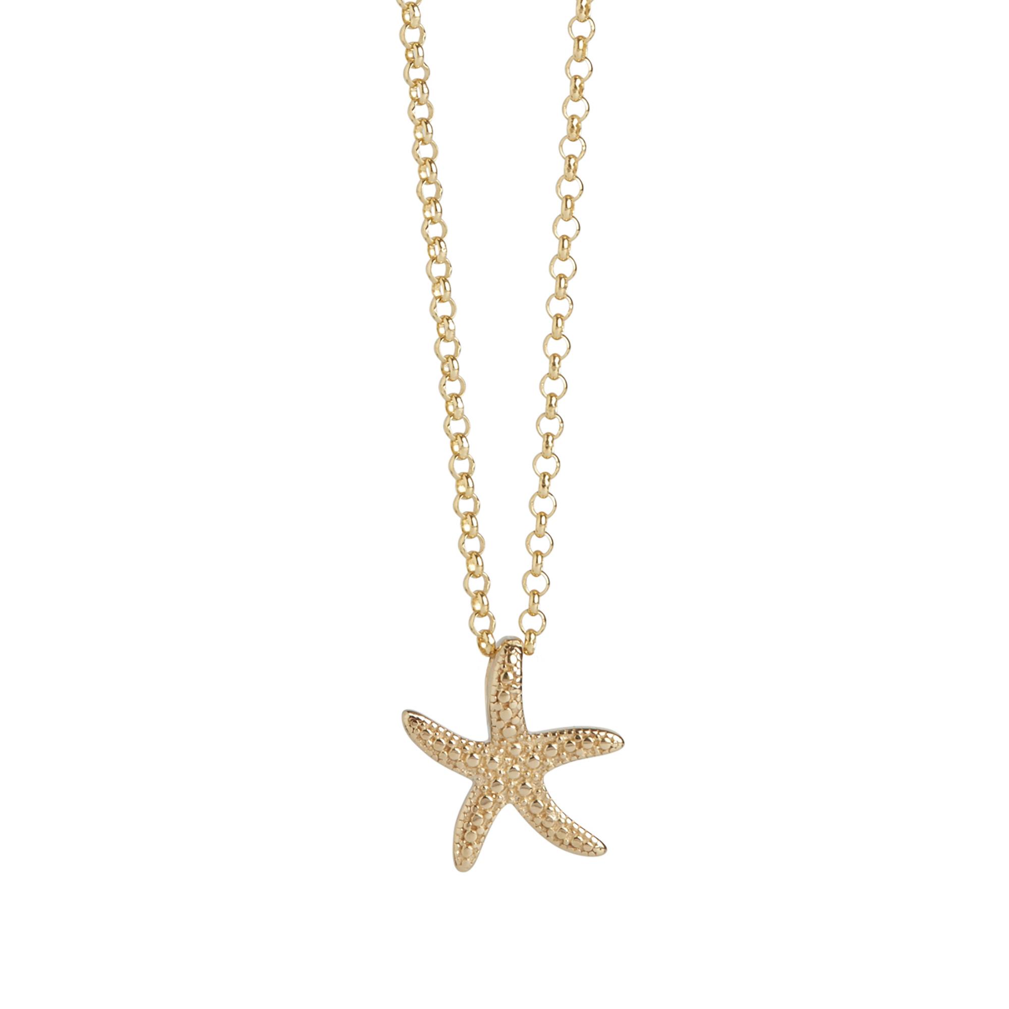 Muru Starfish Charm Necklace Gold Plated