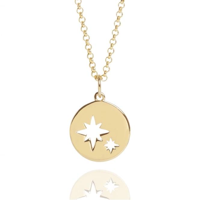 Muru My Little Star Disc Necklace Gold Plated