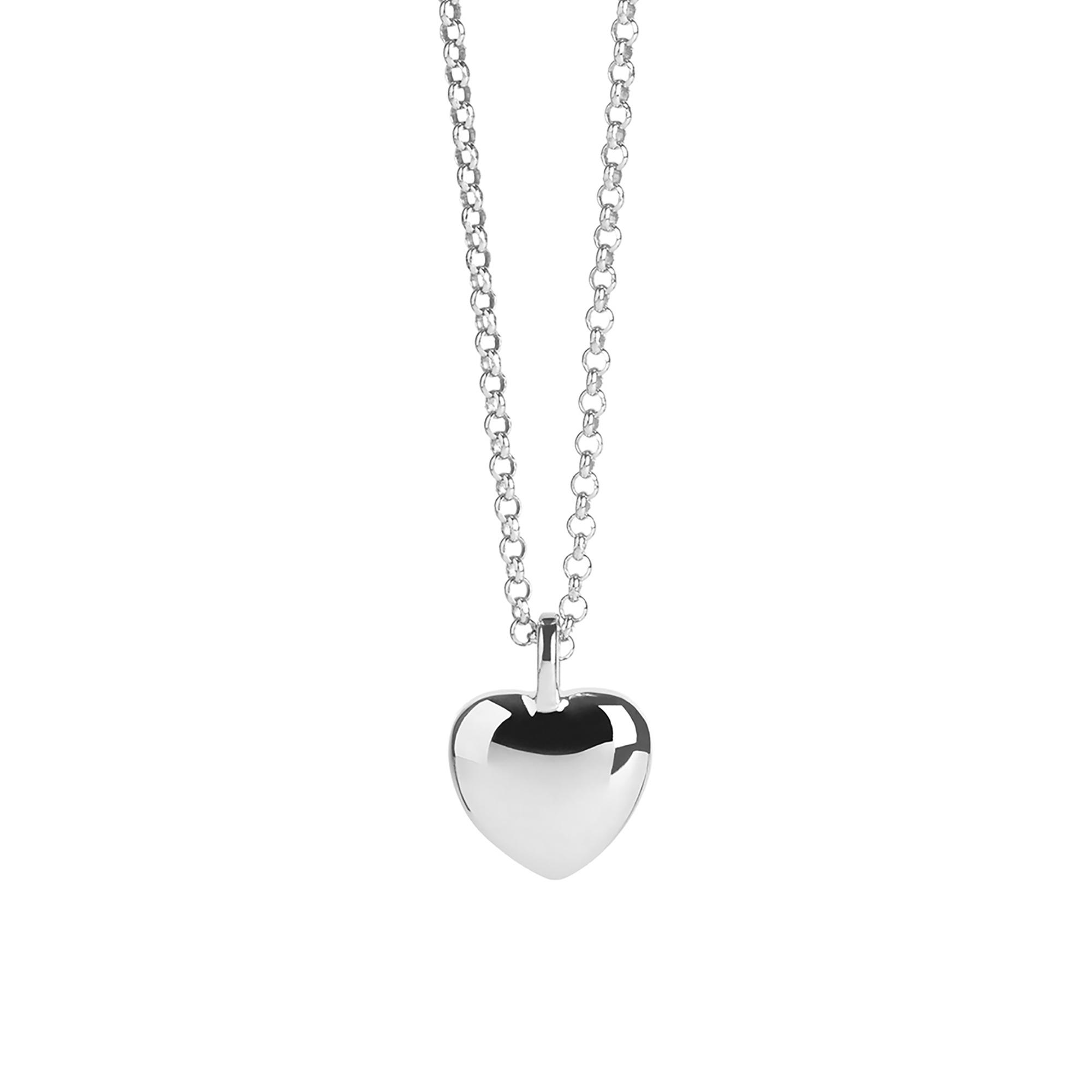 Muru Heart Pebble Necklace Sterling Silver