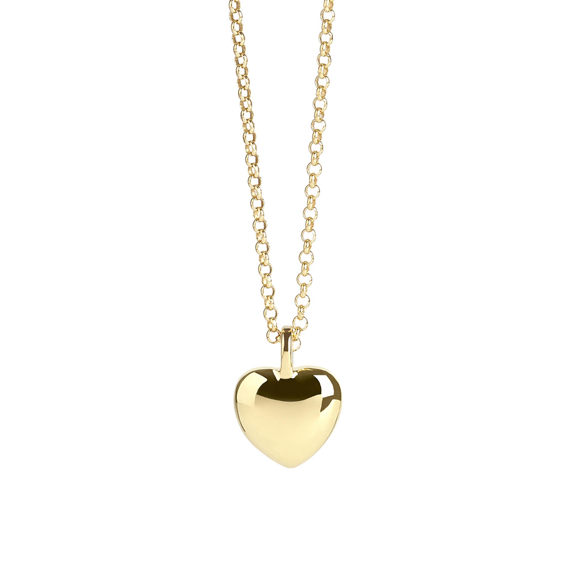 Muru Heart Pebble Necklace Gold Plated Vermeil