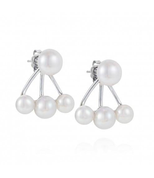 Claudia Bradbury 3 Pearl Earring Jacket