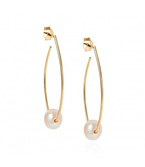 Claudia Bradbury Trapeze Earrings Gold Plated