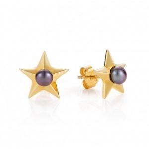 Claudia Bradbury Star Gold Plated Studs