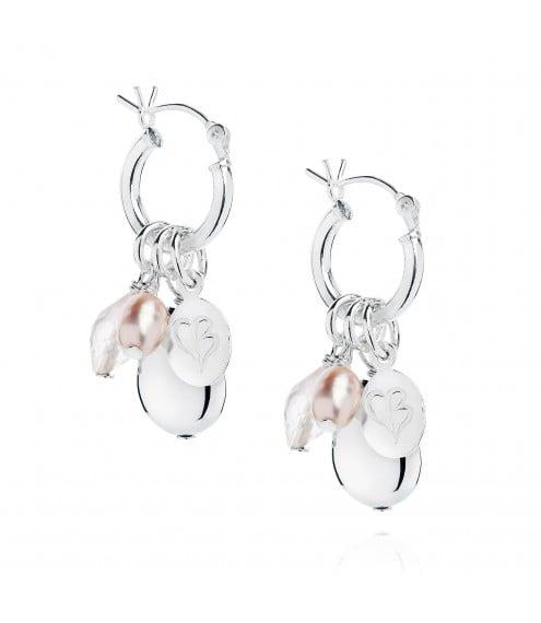 Claudia Bradbury Kate Rose Quartz Earrings