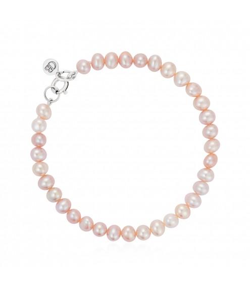 Button Pearl Bracelet Pink