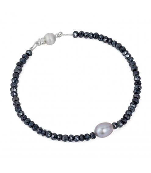 Santorini Black Spinal Bracelet