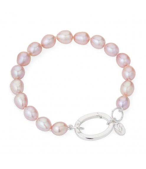 Greta Pink Pearl Bracelet