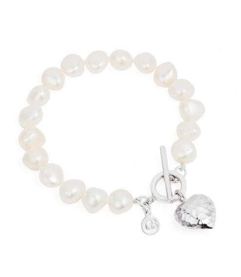 Bella White Pearl Bracelet
