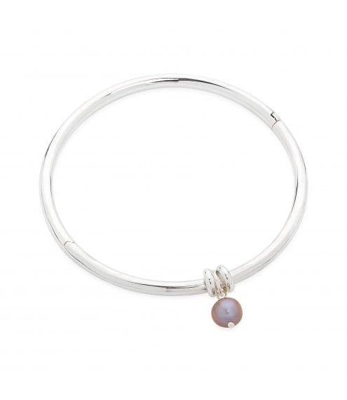 Essential Silver Pearl Bangle