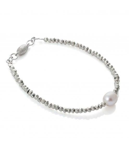 Lucia Pearl & Pyrite Bracelet