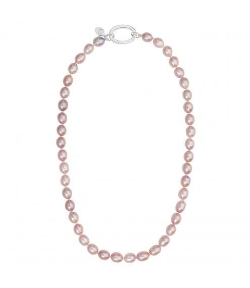 Greta Pink Pearl Necklace