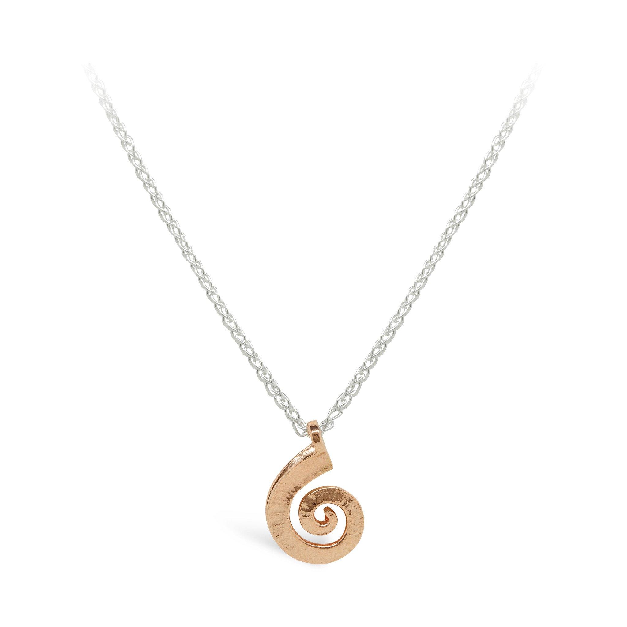Dreki Rose Gold Small Spiral Sea Wave Pendant