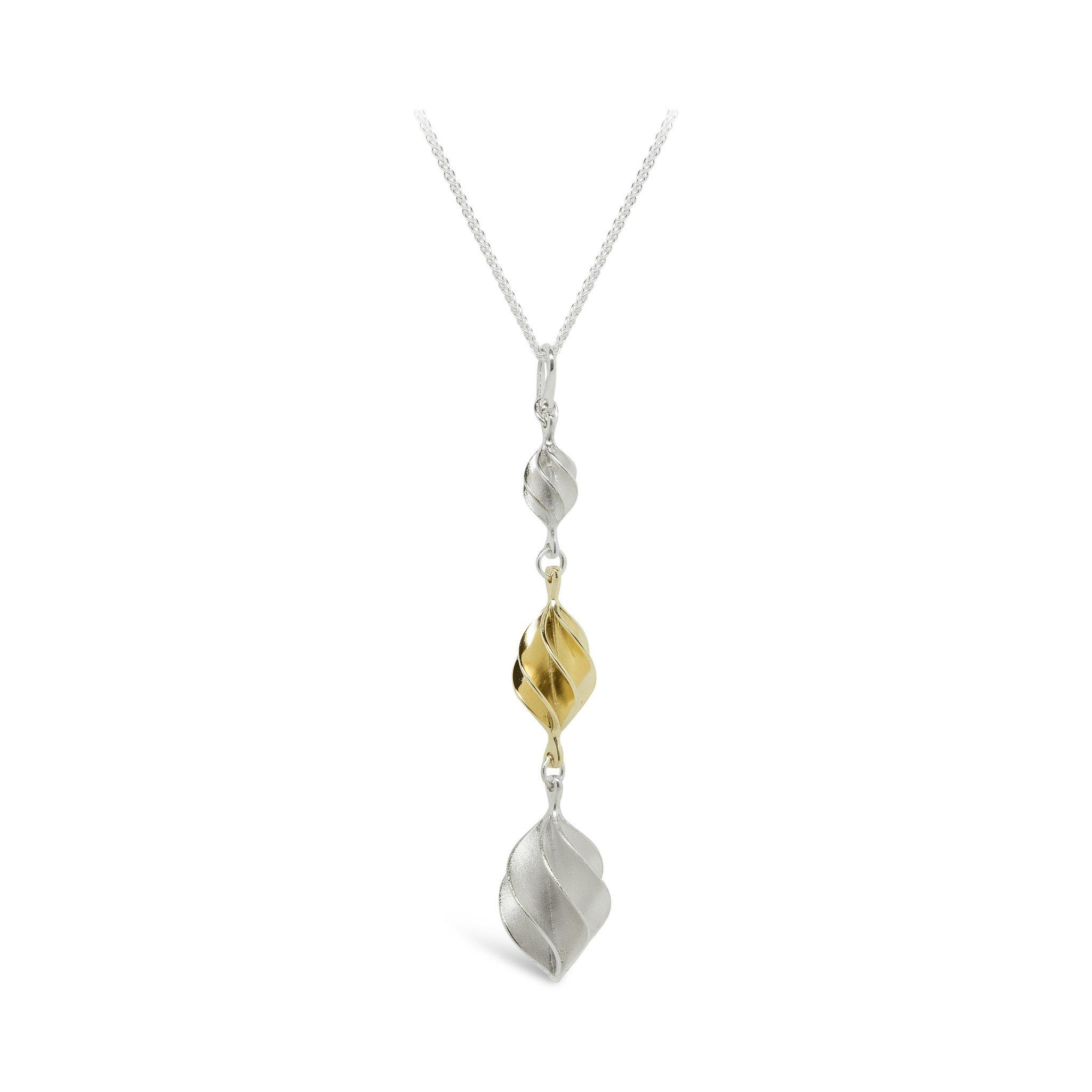 Verso Gold Large, Medium & Small Pendant