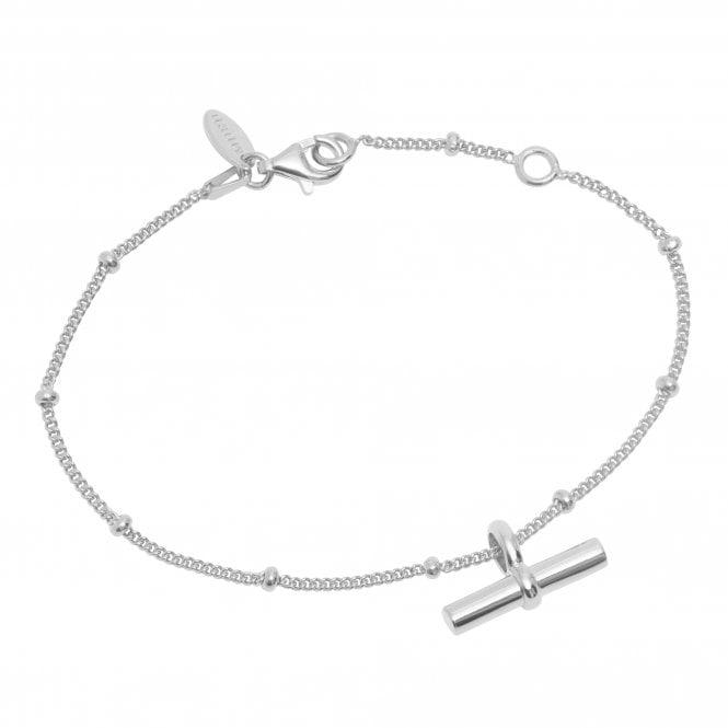 Silver T Bar Bracelet