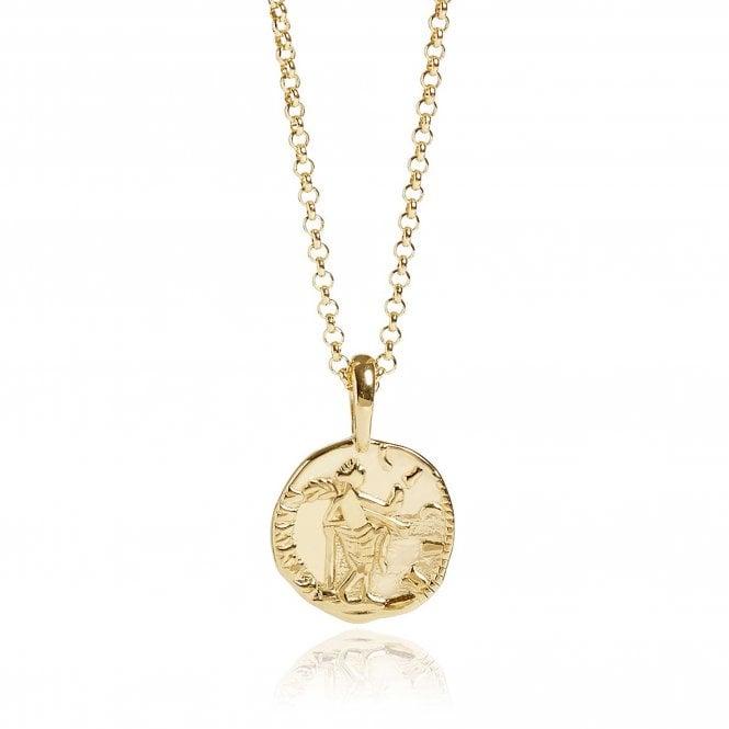 Gold Vermeil Venus Coin Necklace